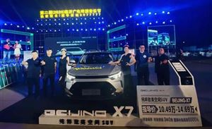 BEIJING汽车全新战略车型BEIJING-X7临沂广电啤酒节上市